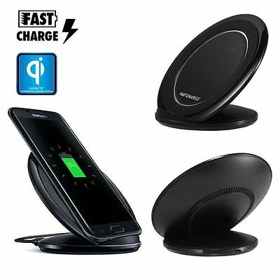 Qi Wireless Fast Charger Charging Stand Dock For Samsung Galaxy S6 S7 Edge S8
