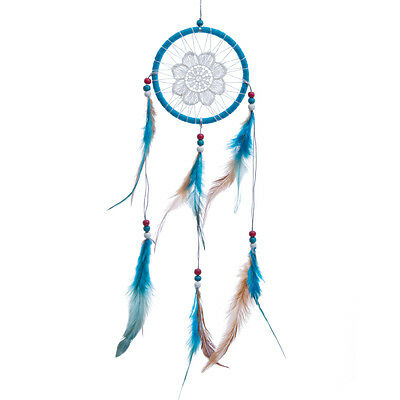 Sky blue Dream Catcher with Feathers Wall Car Hanging Ornament Birthday Gift