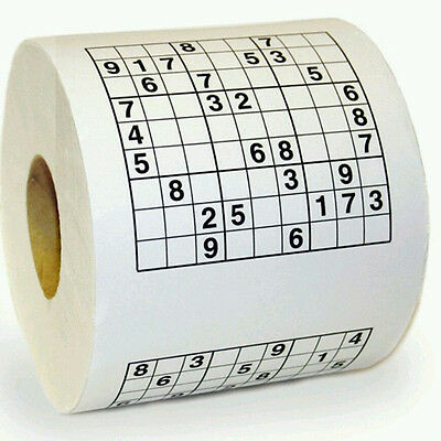 Sudoku Puzzle Game Roll Novelty Toilet Paper Funny Gag Gift Practical Joke M R L