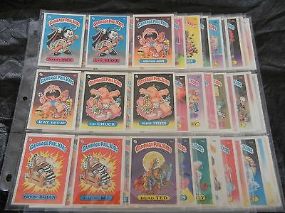 1985 GPK USA Garbage Pail Kids Series 1  complete GLOSSY SET 82 cards NrMt- MT