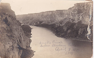 RP; Snake River below Shoshone Falls, IDAHO ;  April 9, 1910