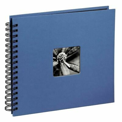 Fine Art Spiralbound Photo Album, 36 cm x 32 cm for 50 Photos, Azure Blue