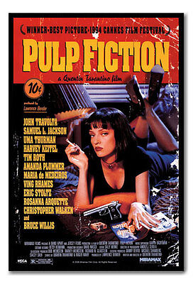 Framed Pulp Fiction Movie Poster Ready To Hang - Choice Of Frame Colours