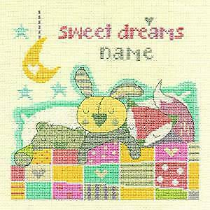 Sweet Dreams Birth Sampler Cross Stitch Kit By DMC 14 Count Size 20cm Square