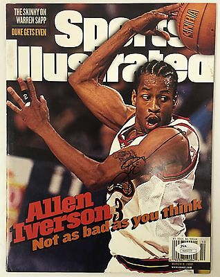 Allen Iverson 76ers Signed March 9, 1998 Sports Illustrated Magazine JSA