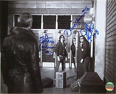 Slap Shot Hanson Brothers Charlestown Chiefs Triple Signed 8x10 Photo JSA