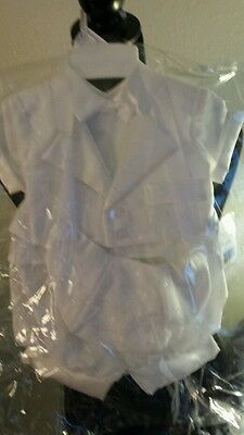NEW Baby Boy Baptism Christening Outfit Set 0-3 Months NWT