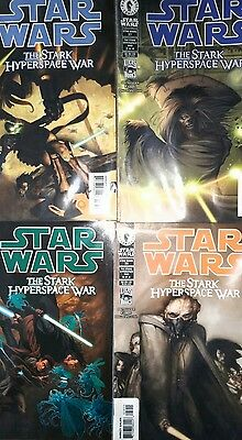 Star wars The Stark Hyperspace War. Complete set of comics 1 to 4.
