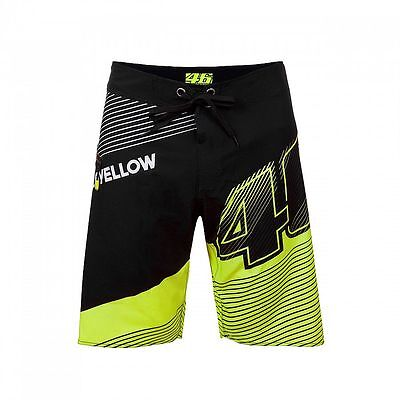Official VR46 Valentino Rossi MotoGP Motorcycle Motorbike Board Short - Black