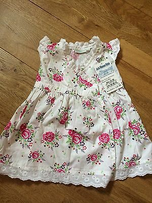 JoJo Maman Bebe Rose Baby Dress 6-12 Months BRAND NEW WITH TAGS