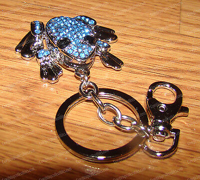 Bejeweled Motion FROG (Stainless) Key Ring (Belt Clip) Keychain