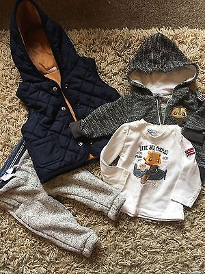 Baby Boys Bundle Joblot Gillet Trousers Hoody Age 0-3 3-6 Months