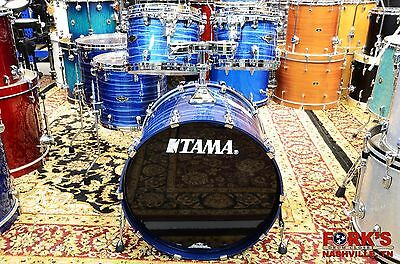 New Tama Starclassic Performer B/B drum set  Lacquered Ocean Blue Ripple 6-piece