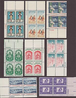 Us,1960's,vintage Plate Blocks, Mint Nh Collection,f-Vf