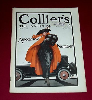 Jan. 3, 1920  COLLIER'S magazine - AUTOMOTIVE NUMBER with ads & motoring content