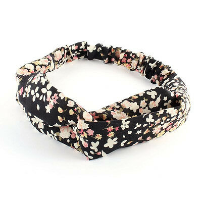 #8 Lady Yoga Elastic Turban Floral Twisted Knotted Hair Band Headband