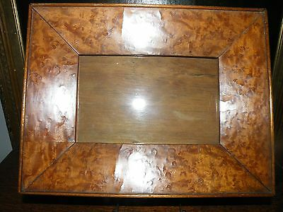 QUALITY ANTIQUE WEDGE PATINATED BIRDS EYE MAPLE PICTURE FRAME 26.9 x 20.7 CMS
