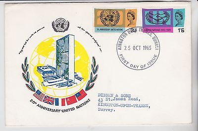 Gb Stamps First Day Cover 1965 Un 5  From Envelope Illustration Collection