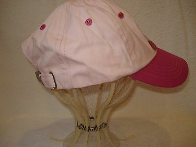 """Girls Youth Pink """"roots"""" Baseball Hat S/m"""