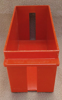 Used - Extra Capacity - Rolled Coin Storage Tray/box (Red) For Pennies