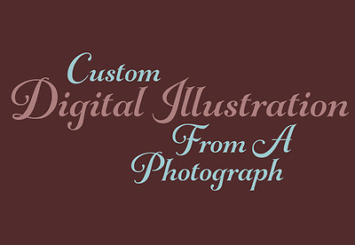 Custom Digital Illustration, Drawing or Painting from a Photograph