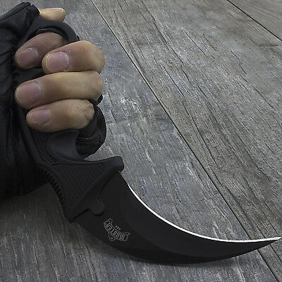 "7.5"" MASTER USA KARAMBIT TACTICAL COMBAT NECK KNIFE Fixed Blade Survival Hunting"