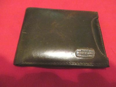 Vintage Men's FOSSIL Classic Brown Leather Wallet/Credit Card Holder - G+UC