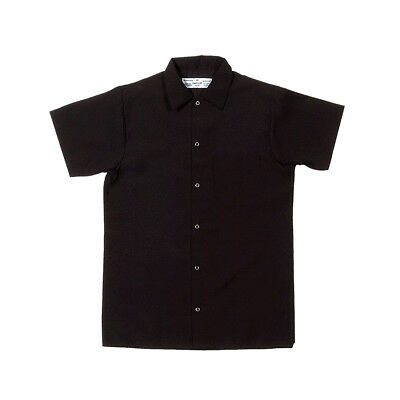 Pinnacle Textile S102 Kitchen Shirt Extra Length, Black