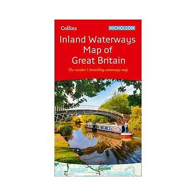Collins Nicholson Inland Waterways Map of Great Britain by Collins Maps...
