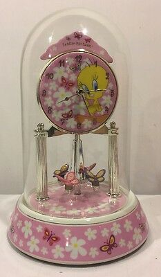 Tweety Porcelain Anniversary Collectible Clock Looney Tunes Warner Brothers