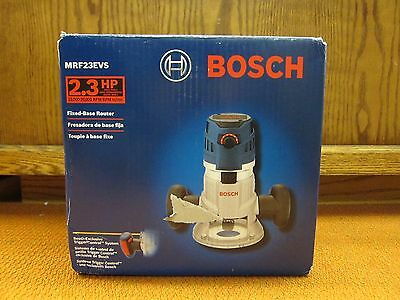 New Bosch MRF23EVS 2.3 HP Electronic VS Fixed-Base Router with Trigger Control