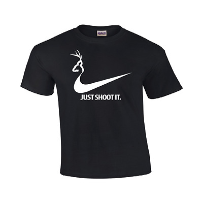 51541ef3 Just Shoot It T Shirt Funny College Humor Hunting Nike Duck Logo Mens #117
