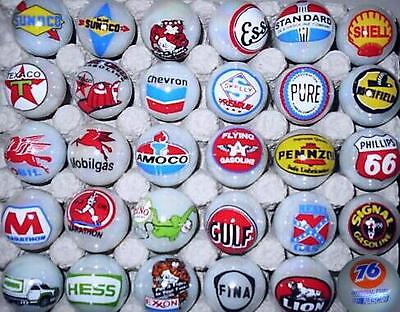 A Lot of 30 Gasoline Advertising Glass Marbles