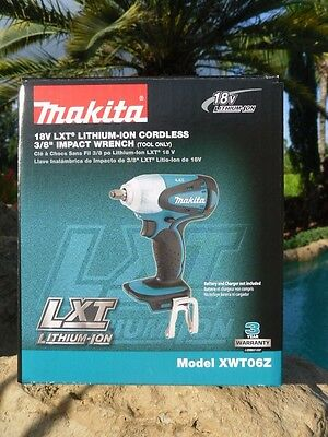 MAKITA XWT06Z 18V LXT® Cordless 3/8-Inch Square Drive Impact Wrench New!
