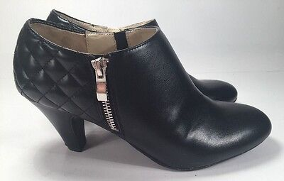 Naturalizer Barrets Black Heels Women's Sz 8.5M Zip Up High Heel N5 Comfort