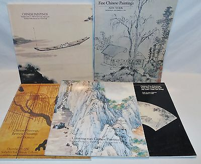 #16- 5 SOTHEBYS CHINESE PAINTINGS, AUCTION CATALOGS,1980's, LATE CHAN YEE PONG