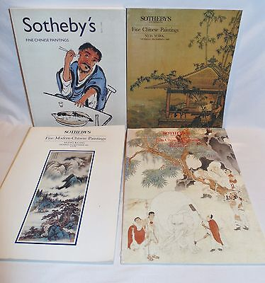 #18- 4 SOTHEBYS FINE CHINESE PAINTINGS, AUCTION CATALOGS,1980's,