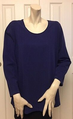 Catherines Suprema Collection Women's Blue Long Sleeve Top Size 1X