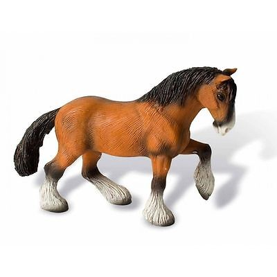 NEW Bullyland Shire Horse Gelding Figurine Toy Made in Spraitbach Germany 73565
