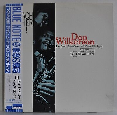 Don Wilkerson Preach Brother! Japan Blue Note LP 1990 Toshiba BN 4107 Insert Obi