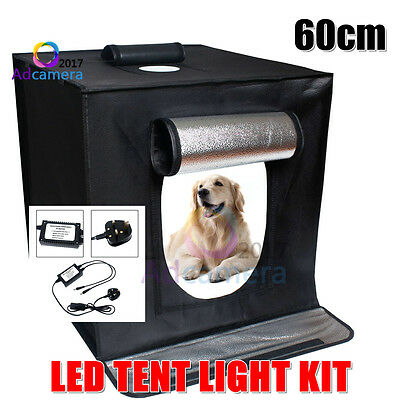 Portable Photo Studio LED Lighting Softbox Cube Light Tent Soft Box +2 Backdrops