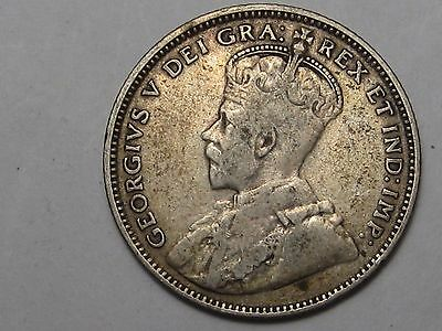 1912 Silver Canadian Newfoundland 20 Cent Coin.  #18
