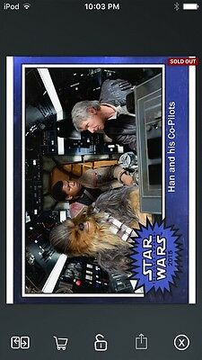 Topps Star Wars Digital Card Trader FA Blue Motion Picture Han Insert