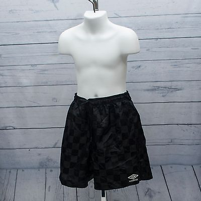 Umbro Kids Girls Boys Black Size Medium Athletic Soccer Sports Shorts