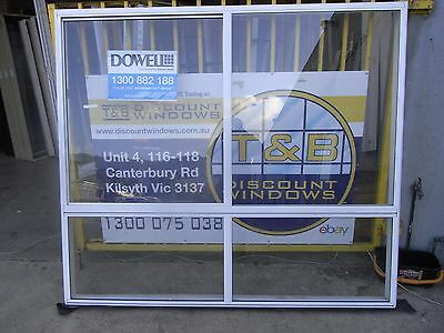 Aluminium Sliding Window 1800 H x 2090 W (Item 2946/14) Pearl White