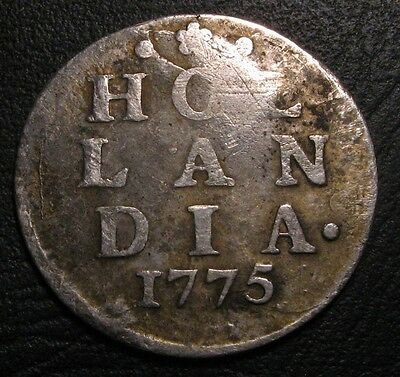 Old Coins Rare 1775 Scarce Silver Stunning Colonial 2 Stuviers Nice