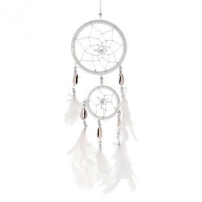 Handmade Dream Catcher Feather Wall Car Hanging Decoration Ornament White