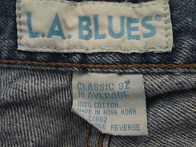 Women's classic denim blue jeans Size 16 by LA Blues  MKS278