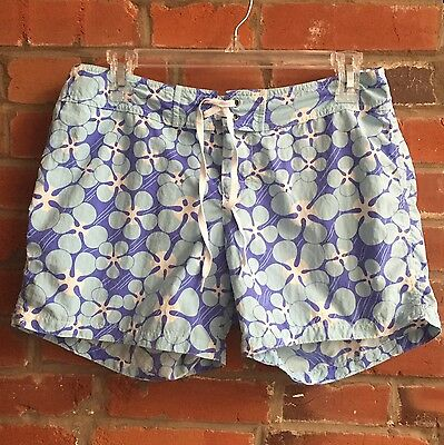 Vintage 90s Board Shorts Womens Patagonia Blue Purple Floral (1249)