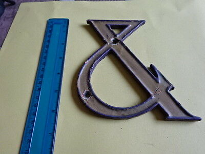 Vintage Enamel/ Metal Sign / Letter  - & - See Pics For Size & Condition